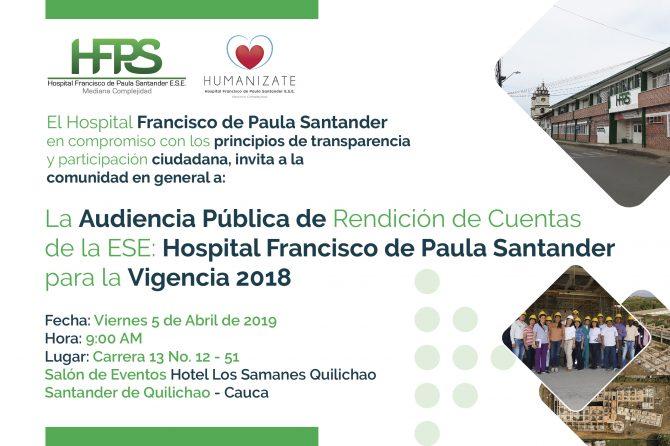 Invitación Pública de Rendición de Cuentas 2018